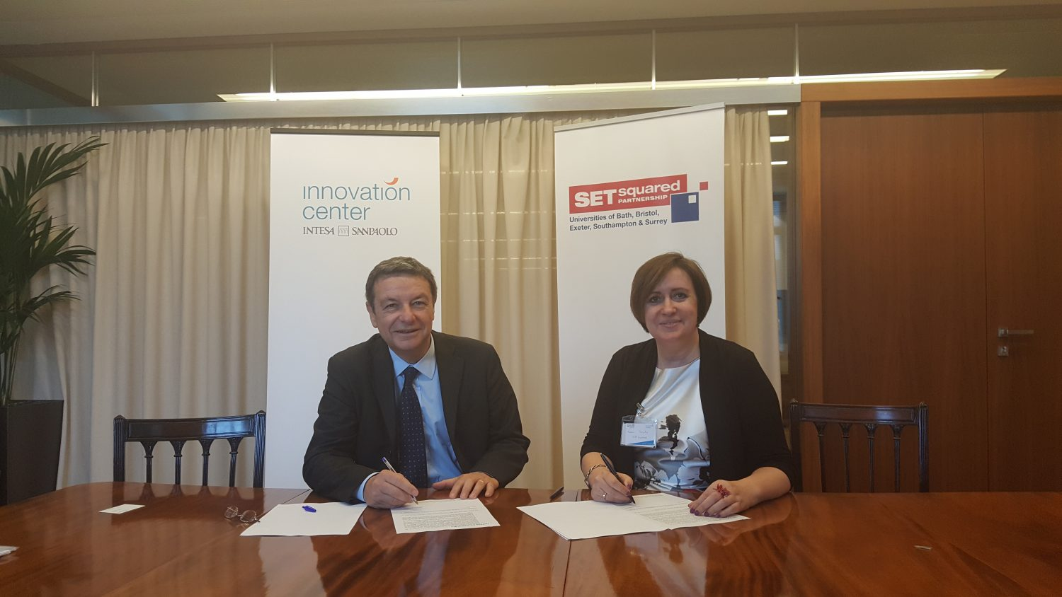 SETsquared sign partnership with leading Italian bank Intesa Sanpaolo