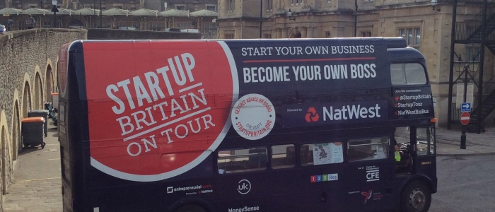 Successful startups supporting new businesses  on board the StartUp Bus