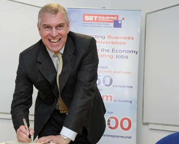 The Duke of York gives royal seal of approval to Bristol's incubation centre