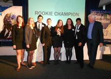 The SIFE team of one of the SETsquared Universities awarded Rookie Champion