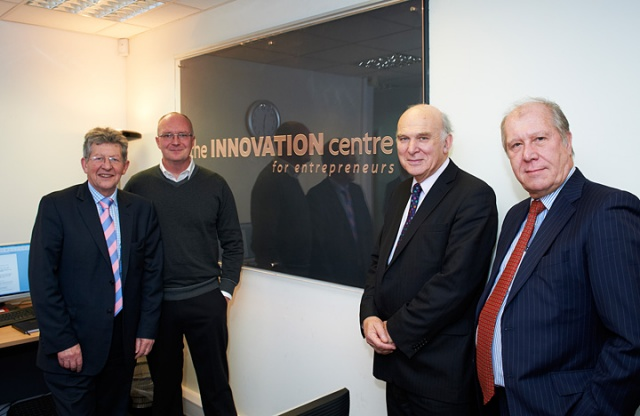 Business Secretary Vince Cable visits SETsquared Centre in Bath