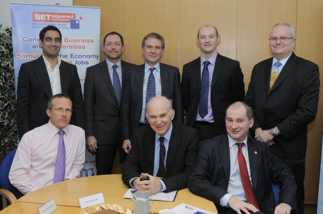 Vince Cable endorses University's work to help businesses boom