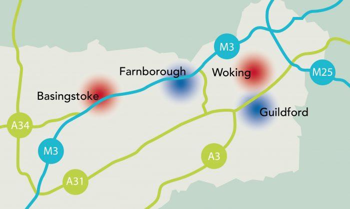 Supporting digital/tech start-ups in the M3 region - Basingstoke, Farnborough, Woking & Guildford