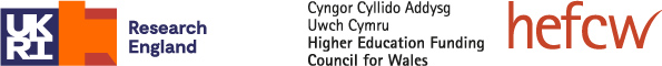Research England & Higher Education Funding Council for Wales logos