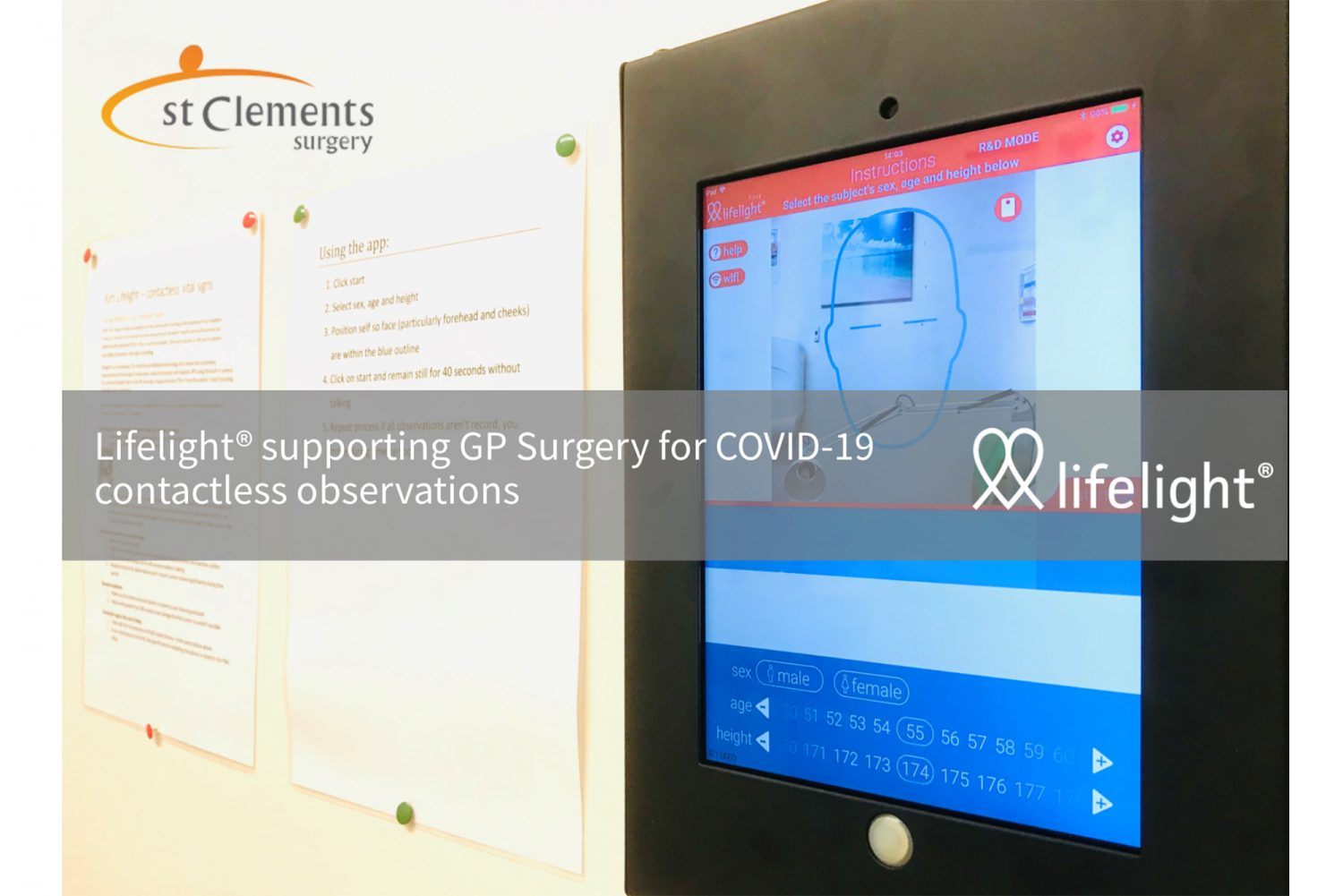 Lifelight supporting contactless GP observations during COVID-19