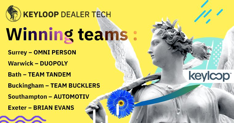 Four SETsquared student enterprise teams reach final of Keyloop Dealer Tech Competition