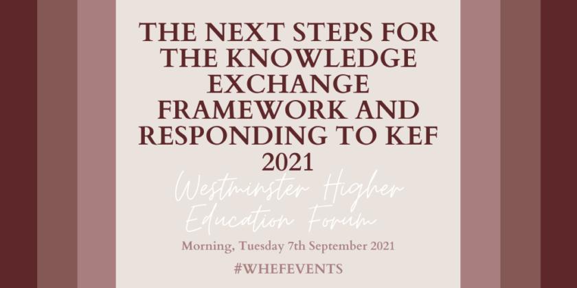 Next Steps for the Knowledge Exchange Framework